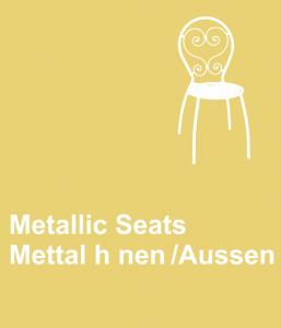 metallic seats